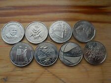 LITHUANIA 1 LITAS / FULL SET OF 8 COMMEMORATIVE COINS 1997/99/04/05/09/10/11/13