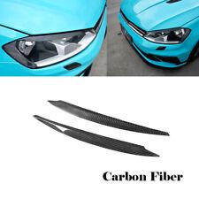 For Volkswagen VW Golf  7 MK7 GTI R 14-17 Headlight Eyebrow Eyelid Carbon Fiber