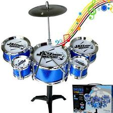 Drum Set with Stool Stick Throne Child Drum Instrument Jazz Music Tool Toy Decor