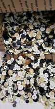(MIX 42) 7 lbs Bulk  Lot Mix Plastic  Metal Sewing Buttons~Variety Craft (NOS)