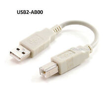 "6"" USB 2.0 A-Type Male to B-Type Male Printer/ Scanner/etc Cable, USB2-AB00"