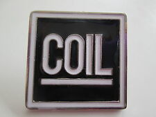 COIL SQUAREBADGE ENAMEL PIN BADGE SUPERBE TG THROBBING GRISTLE SLEAZY