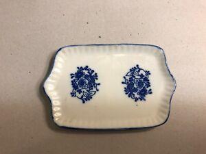 Dollhouse Miniature Blue and White China Platter