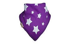 New Funky Giraffe Baby Toddler Girls Bandana Dribble Bib Purple with White Stars