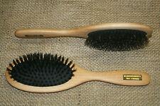 Haarbürste mit Wildschweinborsten, natur, Pneumatic, Holzbürste, groß