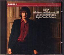 Julian LLOYD WEBBER: HAYDN Cello Concerto 1 4 PHILIPS CD 1985 Cellokonzerte ECO