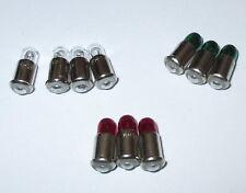 Ersatzlampen MS4 rot,grün,klar (Märklin 600000 600010 600020)  19V - 10 x  *NEU*