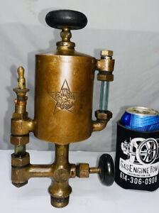 1 Pint POWELL Boson BESSEMER GAS ENGINE Cylinder Brass OILER Hit Miss Oilfield