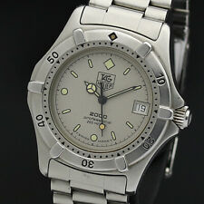 TAG HEUER Watch 2000 962.213 White Gray   Quartz St.Steel Date   T1399