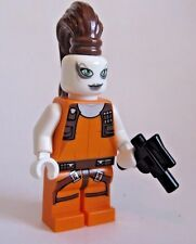 Lego AURRA SING Star Wars Bounty Hunter Minifigure CUSTOM PONYTAIL - 7930 NEW!