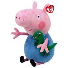 "TY PEPPA PIG GEORGE CON DINOSAURO PELUCHE 28 CM 11"" ORIGINALE TY PLUSH 96231"