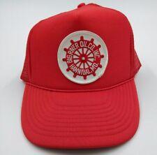 Big River Oil Co. snapback trucker hat mesh cap Hannibal MO. Vintage ball cap