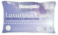 Dunlopillo-2 Pack Luxurious Latex High Profile & Medium Feel Pillow RRP $319.9