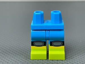 LEGO Minifigure Hips & Legs Dark Azure  Lime Boots Knee Pads Mountain Biker (x1)