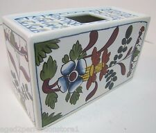 Vintage OUD Delft Flower Frog Brick Holder made in Holland lovely floral design