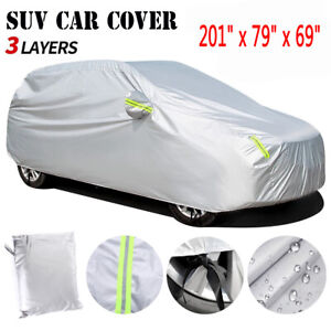 17ft SUV Full Car Cover Waterproof Sun Rain Snow Wind Dust Resistant Protection