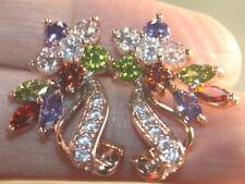 Rose Gold Filled Earrings Wp30104 Silver Elegant Amethyst Peridot Garnet