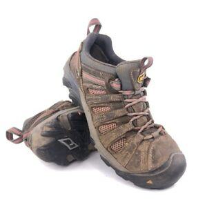 Keen Detroit Low Steel Toe Work Shoes Womens Size 9.5M EUR 40 Brown Leather Boot