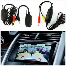 Wireless RCA Video Transmitter & Receiver for Car SUV Rear View Camera Monitor