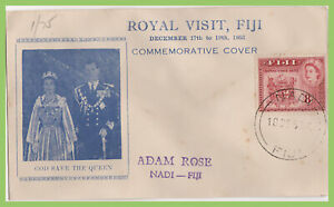 Fiji 1952 QEII Royal Tour, commemorative, cover
