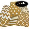 AMAZING THICK MODERN RUGS SKETCH GOLD CREAM 6 Pattern LARGE SIZE BEST-CARPETS