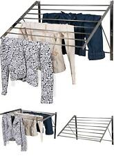 Adjustable Wall Mount Laundry Rack Clothes Drying Rod Space Saver Hanger Indoor