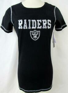 Oakland Raiders Womens XS 3XL or 4XL Touch Embroidered RAIDERS T-shirt ARAD 254