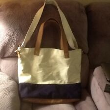 d856a40d94b7 Womens Large Merona Handbag Tote Crossbody Bag Shoulder Navy White