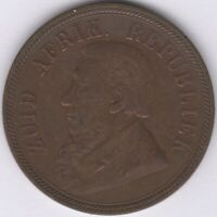 1898 South Africa 1 Penny Coin | World Coins | Pennies2Pounds