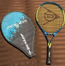 Dunlap Power 23 Tennis Racquet 00/3 7/8 With Cover Tight Strings 23 1/4 X 11�