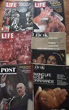 Look Life Post 6 Magazines 1960 1961 1963 1967 1969 1971 Lot