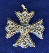 Reed & Barton Christmas Cross Sterling Silver Ornament 1975