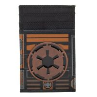 Front Pocket Slim Card Holder Wallet STAR WARS Empire Logo Dark Side Metal Badge
