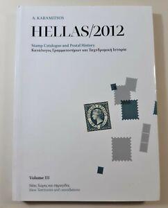 Filatelia catalogo Hellas 2012 francobolli e storia postale volume III