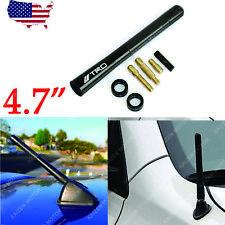 """4.7"""" Screw-On Trd Carbon Fiber Black Aluminum Radio Aerial Short Antenna Toyota"""