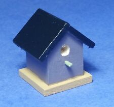 Miniature Dollhouse Birdhouse Purple & Black 1:12 Scale New