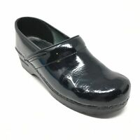 Women's Sanita Clogs Loafers Shoes Size 40 EU/9-9.5 US Black Patent Leather AG5