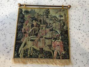 Dolls house miniature 1:12 Medieval / Tudor 'tapestry' + pole