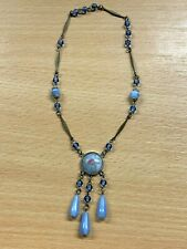 VINTAGE BLUE STONE VERY SMALL NECKLACE OR VERY BIG BRACELET