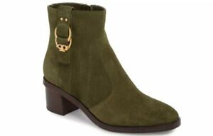 Tory Burch Marsden Olive Green Sport Suede Bootie Boots 9 (See Online Reviews)