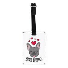Love francese Bulldogs VISUAL Valigia Bagagli Tag Travel Bag-Divertente DOG PUPPY
