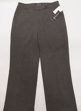 NEW Anne Klein Career Pants Womens 12 Gray Charcoal Lined Flat Front Retail $195