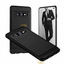 For Samsung Galaxy S10e Carbon Fibre Gel Case Cover Shockproof & Stylus Pen