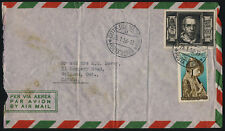 Vatican 131 + 197 on airmail envelope - Pope Pius XII, Pope Nicholas V
