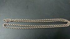 """Vintage 18ct Yellow Gold triple link Belcher Chain 26"""" Hallmarked 9K Solid 14g"""