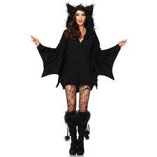 Freche Fledermaus Hoodie Dress Halloween Vampir Damen Kostüm Mit Flügel Gothic