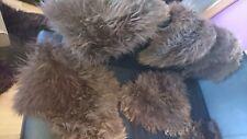 Lammfell Braun klein HOCKER,Sitzkissen Stühle ca.35  cm Hundekorb schaffell