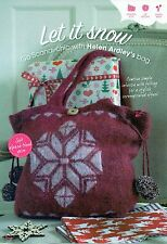 ~ Knitting Pattern For Gorgeous Felted Snowflake Bag ~