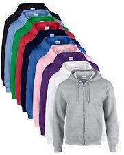Gildan Plain Zip Up Zipper Hoodie Hoody Hooded Sweatshirt Sweat Jumper Jacket