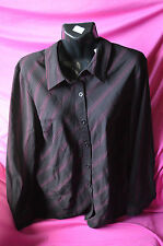 ladies new with tag shirt by millers. size 12 colour burgundy/black stripes